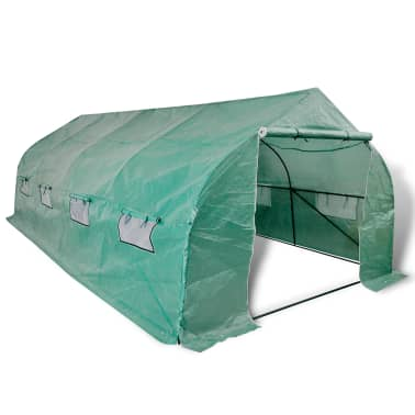 Walk-in Portable Polytunnel Greenhouse with Steel Frame 18 m2[1/5]