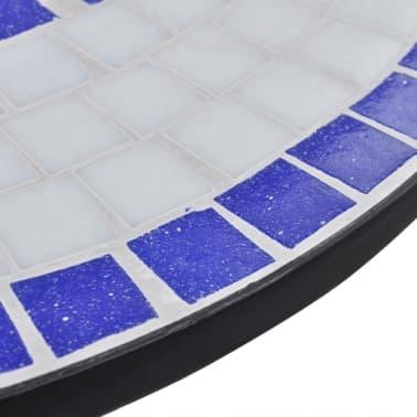 Mosaiktisch 60 cm Blau/Weiß[4/5]