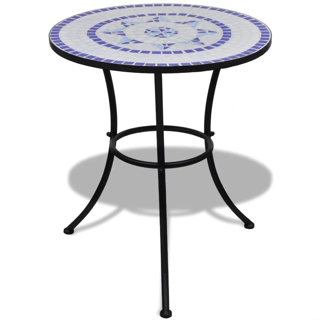 vidaXL Mozaik asztal 60 cm kék / piros