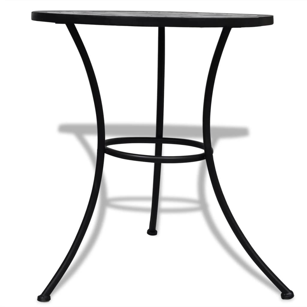 Tavolo con mosaico 60 cm nero bianco - Tavolo profondita 60 cm ...