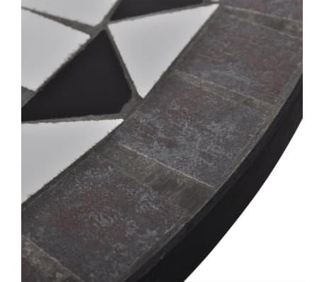 Mosaiktisch 60 cm Schwarz/Weiß[4/5]