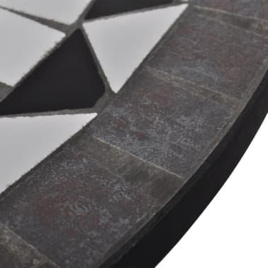 Mosaiktisch 60 cm Schwarz/Weiß[4/4]
