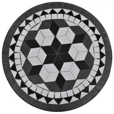 Mosaiktisch 60 cm Schwarz/Weiß[2/5]