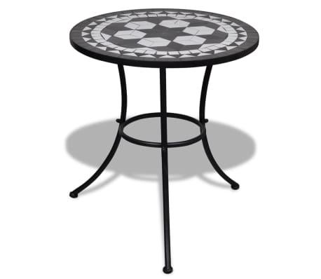 Mosaiktisch 60 cm Schwarz/Weiß