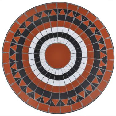 Mosaiktisch 60 cm Terrakotta/Weiß[3/4]
