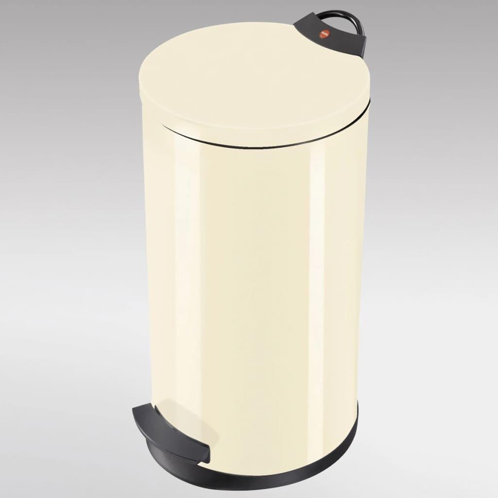 Hailo cubo de basura con pedal t2 tama o l 19 l vainilla for Cubos de basura con pedal