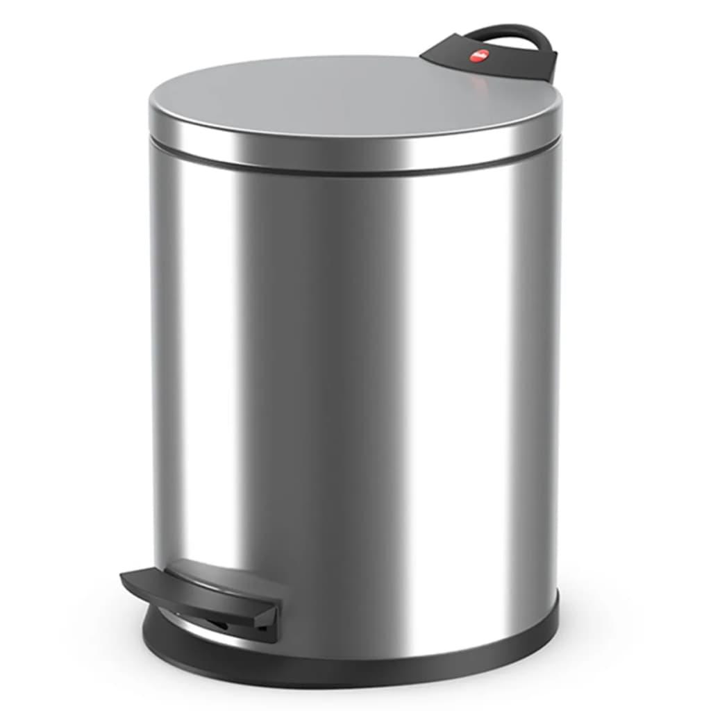 Hailo cubo de basura con pedal t2 tama o m 11 l acero inox 0513 034 - Cubo basura pedal ...