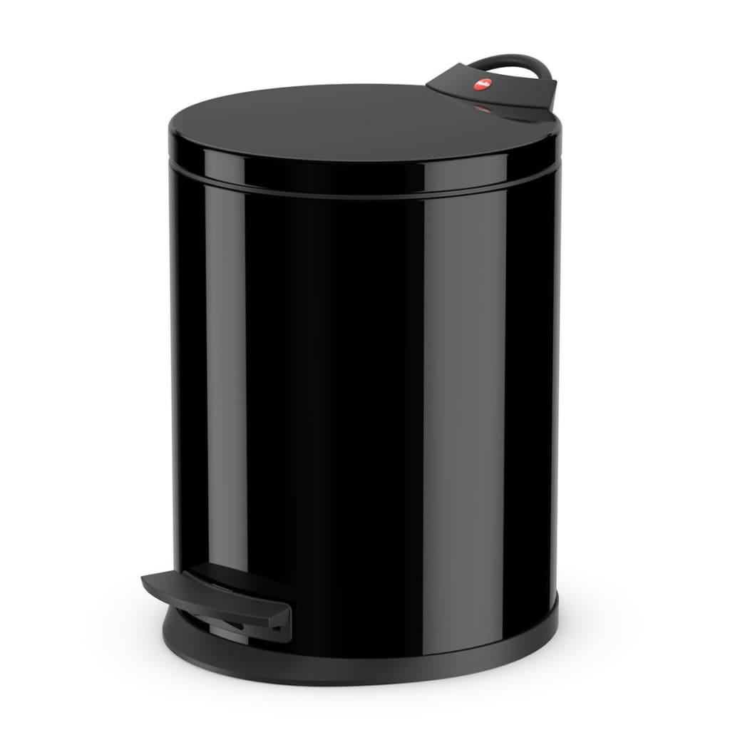 Hailo cubo de basura con pedal t2 tama o m 11 l negro 0513 for Cubos de basura con pedal