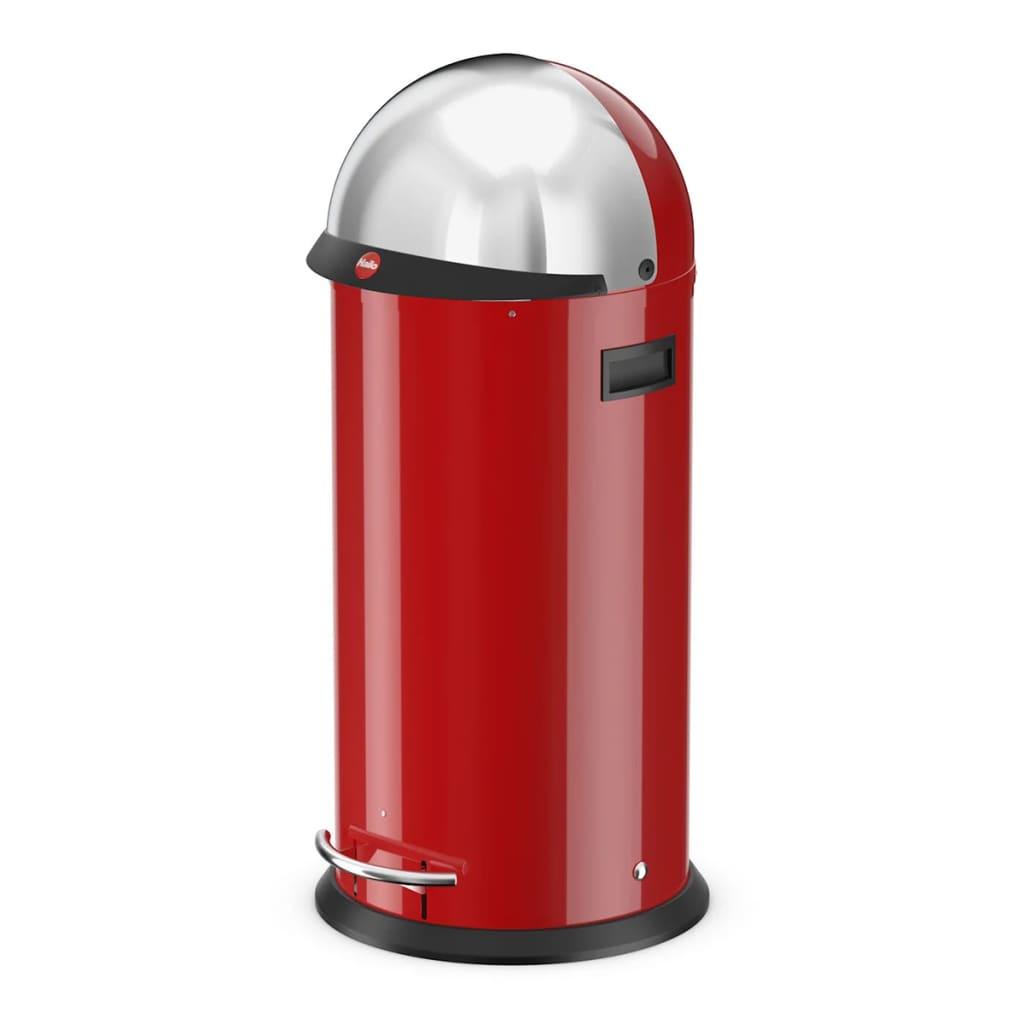 Hailo cubo de basura con pedal kickvisier xl 36l rojo 0850 for Cubos de basura con pedal