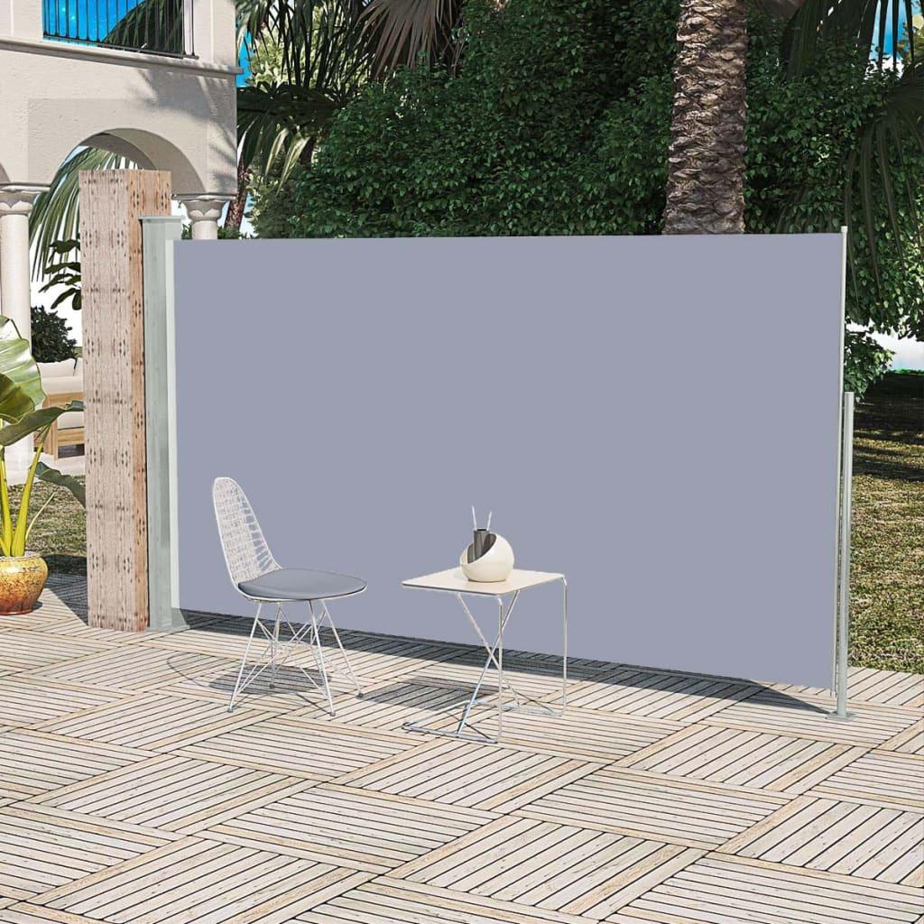 vidaXL Patio Behúzható Oldal-Napellenző 160 x 300 cm Szürke