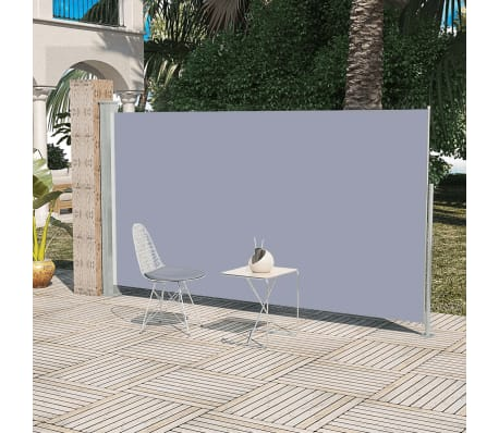 vidaXL.co.uk | Patio Retractable Side Awning 160 x 300 cm Grey