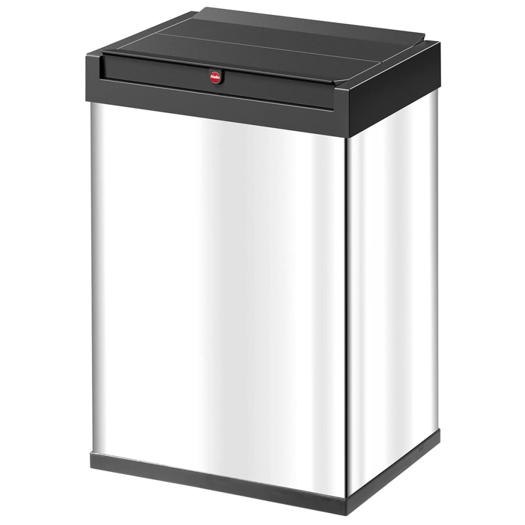 hailo waste bin big box swing size l 35 l stainless steel 0840 111. Black Bedroom Furniture Sets. Home Design Ideas
