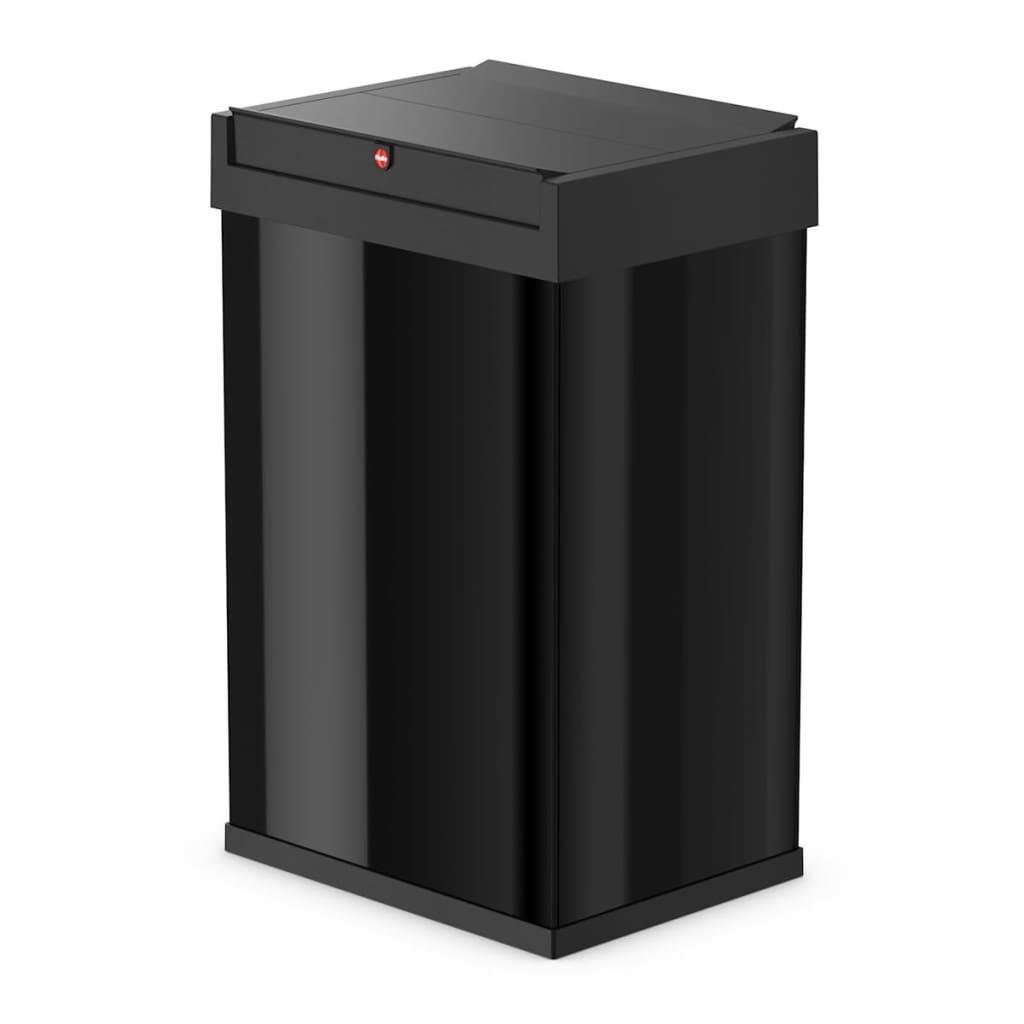 hailo waste bin big box swing size l 35 l black 0840 141. Black Bedroom Furniture Sets. Home Design Ideas