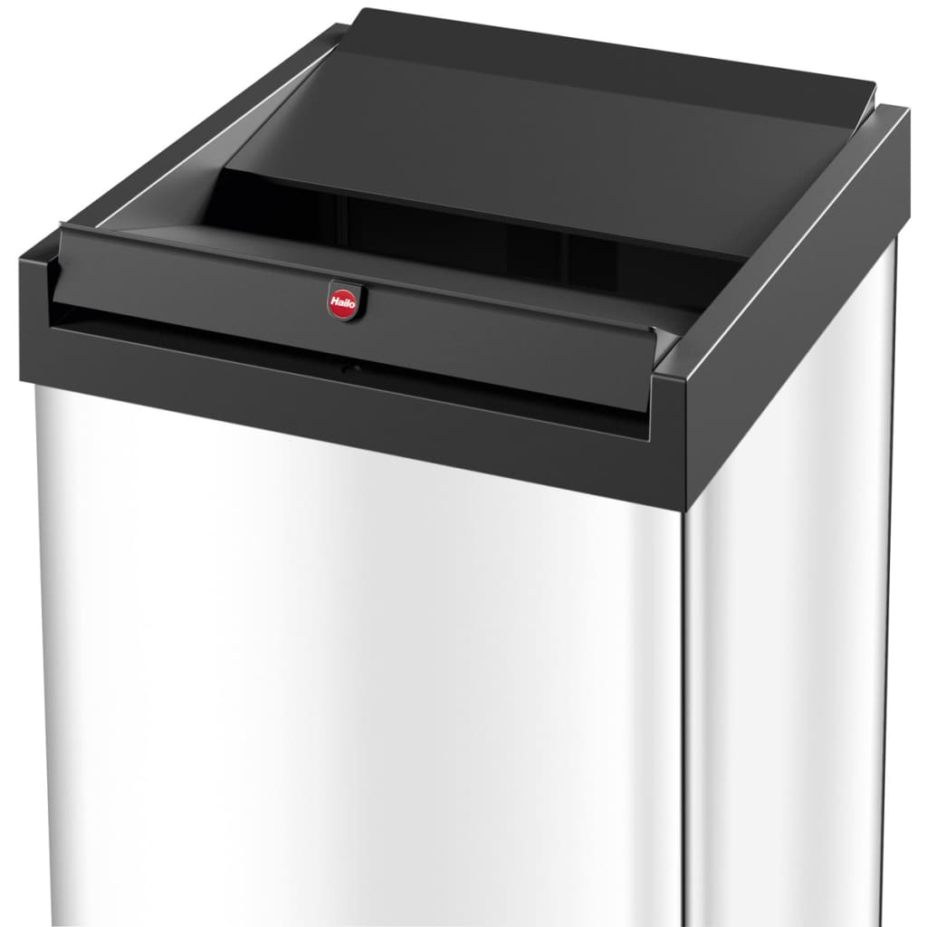 hailo waste bin big box swing size xxl 71 l stainless steel 0880 101. Black Bedroom Furniture Sets. Home Design Ideas