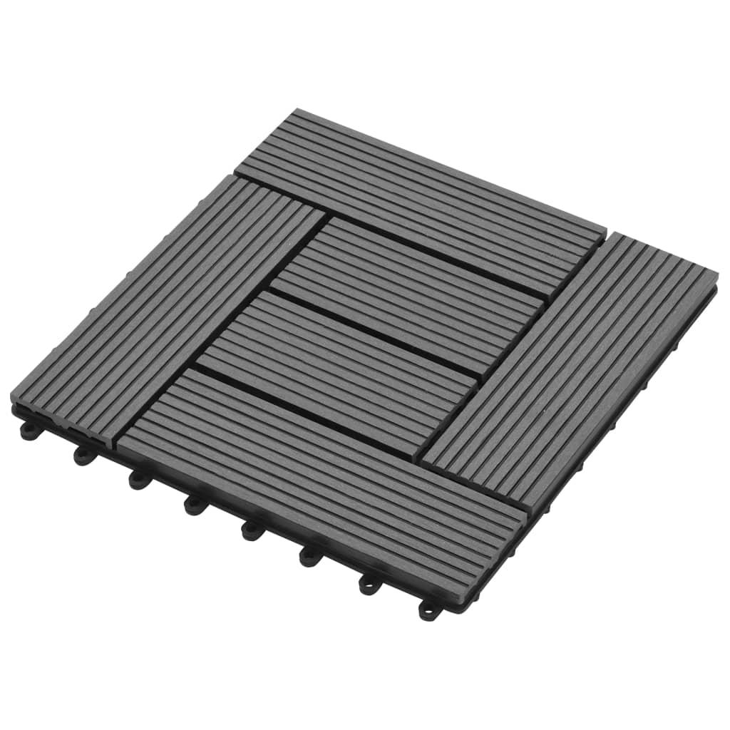 terrastegels 11 stuks 30 x 30 cm wpc 1 m2 grijs online kopen. Black Bedroom Furniture Sets. Home Design Ideas