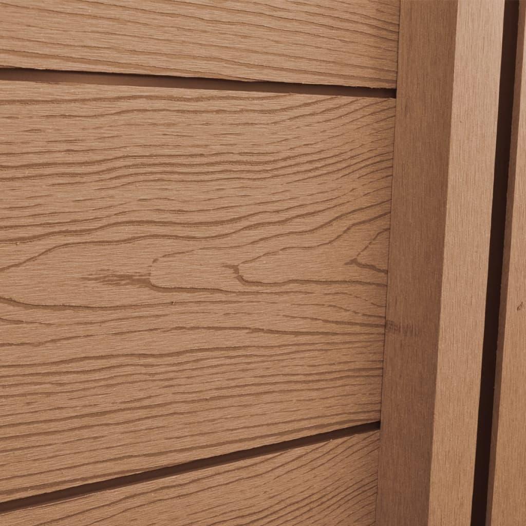 Panel diagonal de wpc para valla marr n tienda online - Www wayook es panel ...