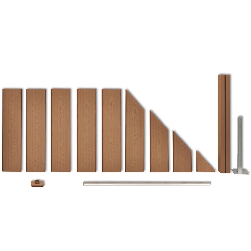 acheter panneau de cl ture de jardin design inclin en wpc. Black Bedroom Furniture Sets. Home Design Ideas