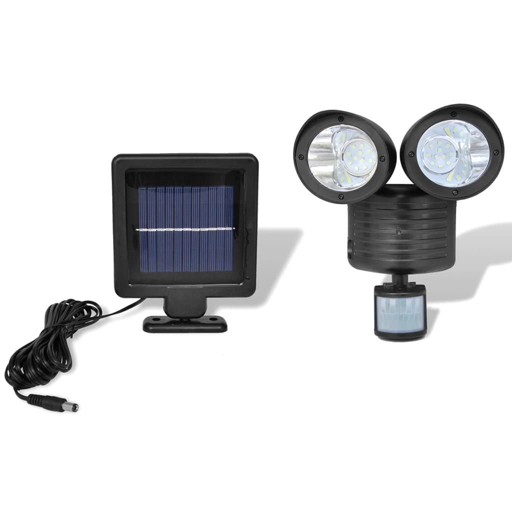 vida-xl-black-solar-powered-dual-head-led-spotlight-with-sensor