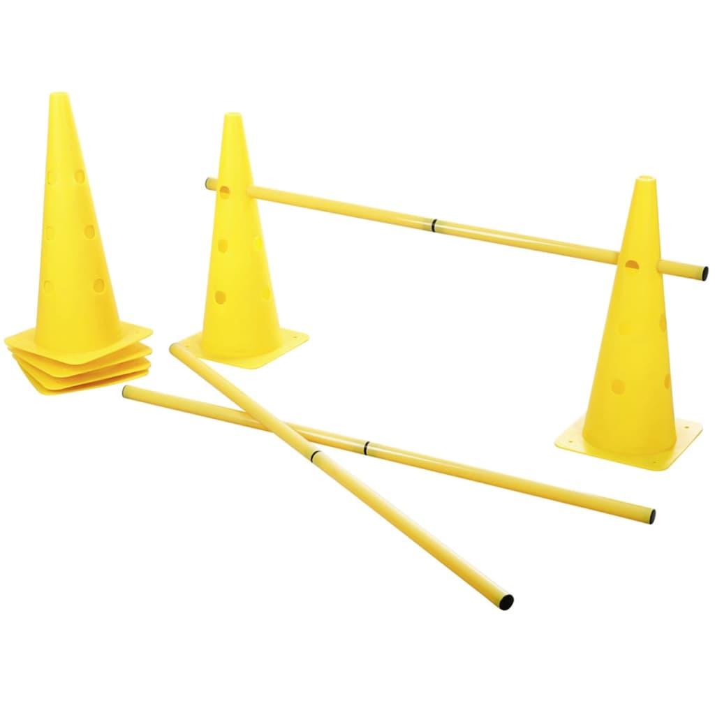 Afbeelding van Kerbl 2-in-1 Behendigheidsset met kegels en hordes geel 81994