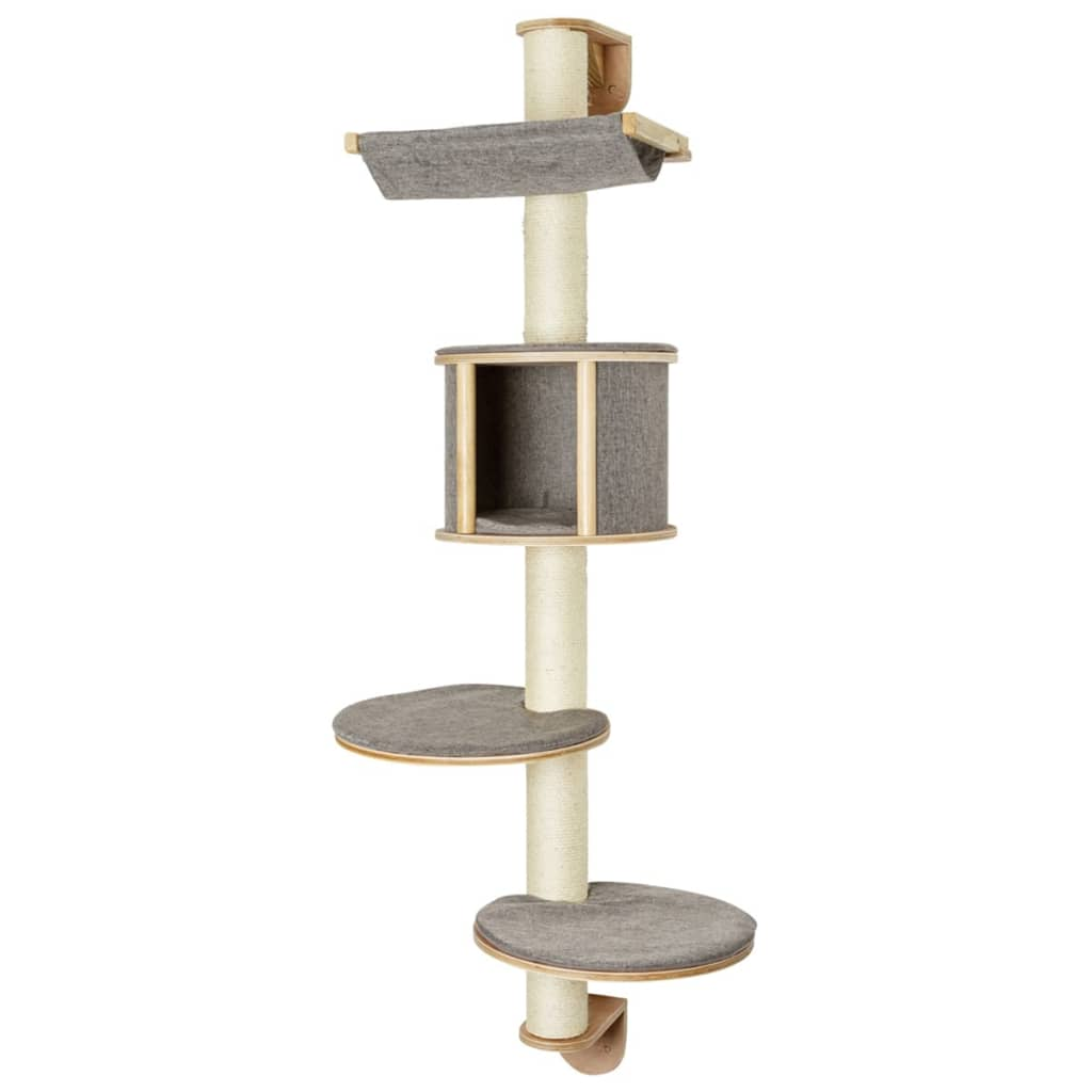 kerbl wandgemonteerde krabpaal dolomit tofana grijs 168 cm. Black Bedroom Furniture Sets. Home Design Ideas