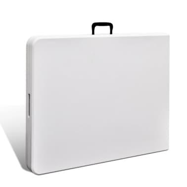 Faltbarer Gartentisch 180 cm HDPE Weiß[3/6]
