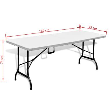 Faltbarer Gartentisch 180 cm HDPE Weiß[6/6]
