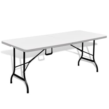 Faltbarer Gartentisch 180 cm HDPE Weiß[1/6]