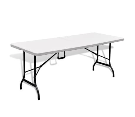 Faltbarer Gartentisch 180 cm HDPE Weiß