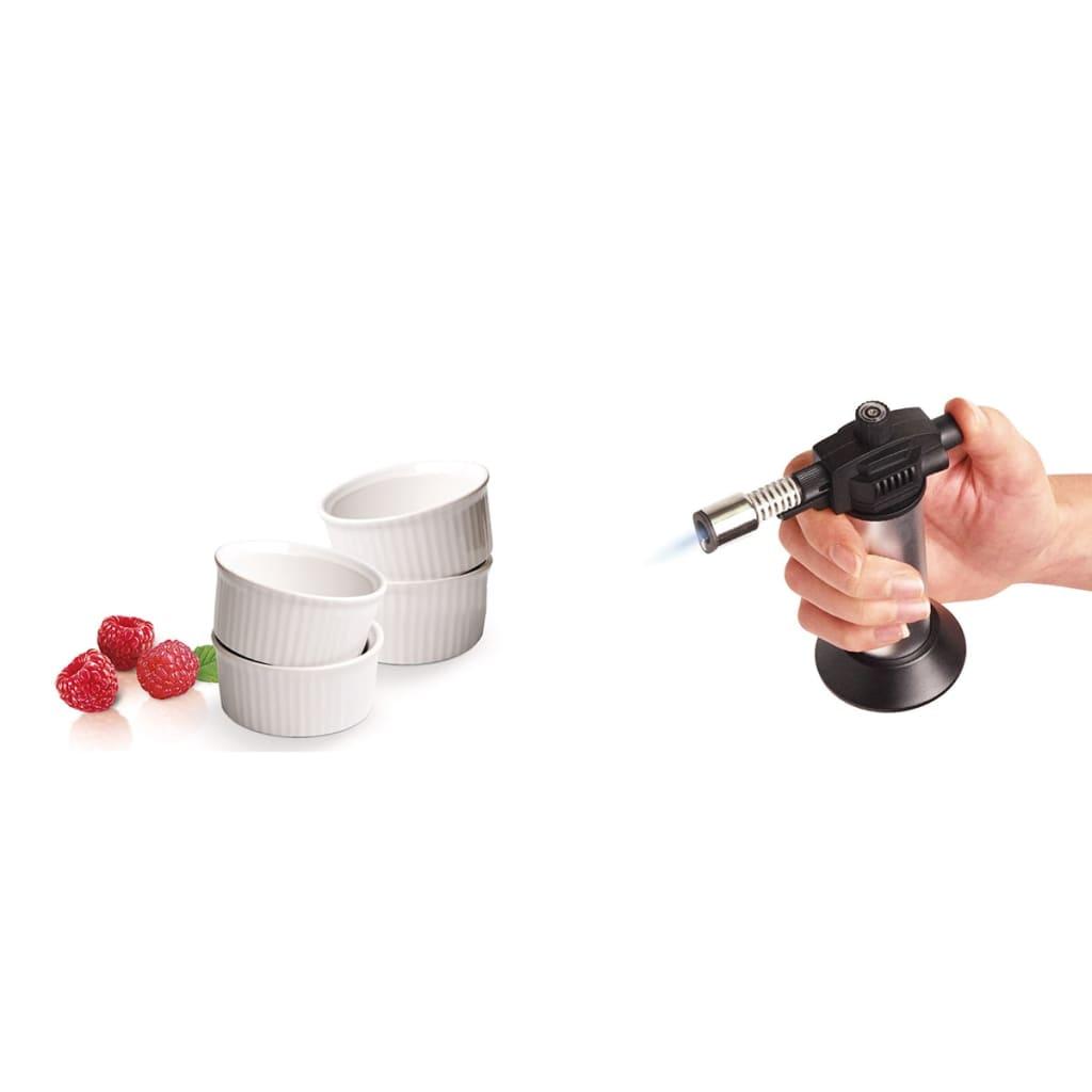 handla leifheit creme brulee set 5 delar silver och vit 03118. Black Bedroom Furniture Sets. Home Design Ideas