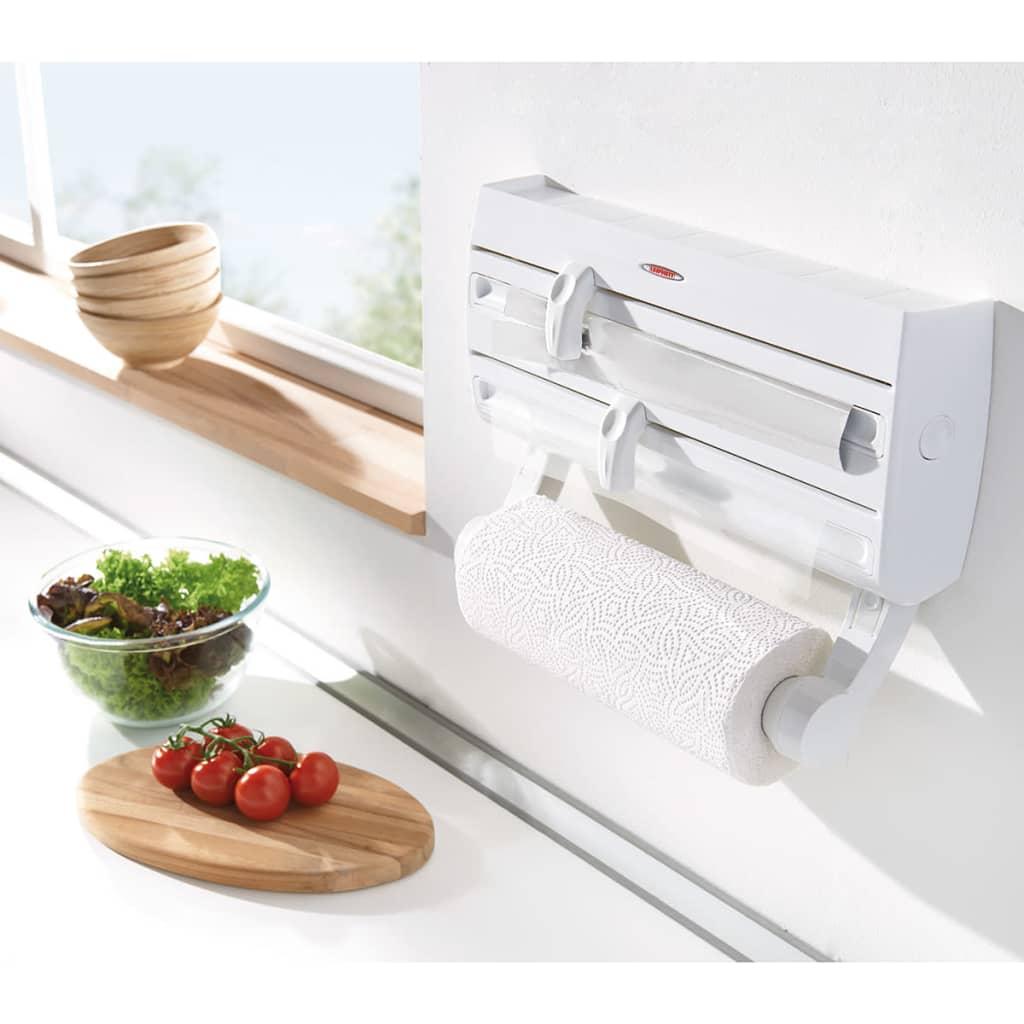 Leifheit portarrollos de cocina de pared parat f2 blanco for Portarrollos de cocina