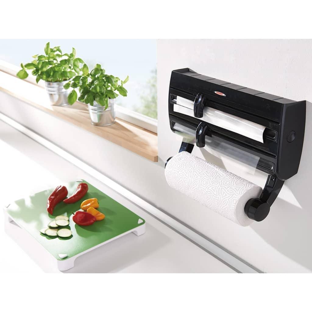 Leifheit portarrollos de cocina de pared parat f2 negro for Portarrollos de cocina