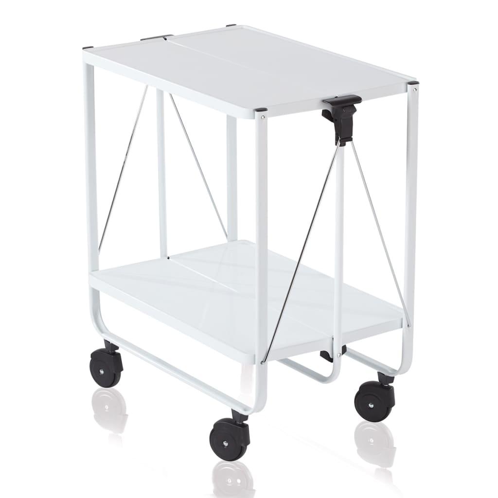 leifheit carrito plegable de cocina blanco 74236