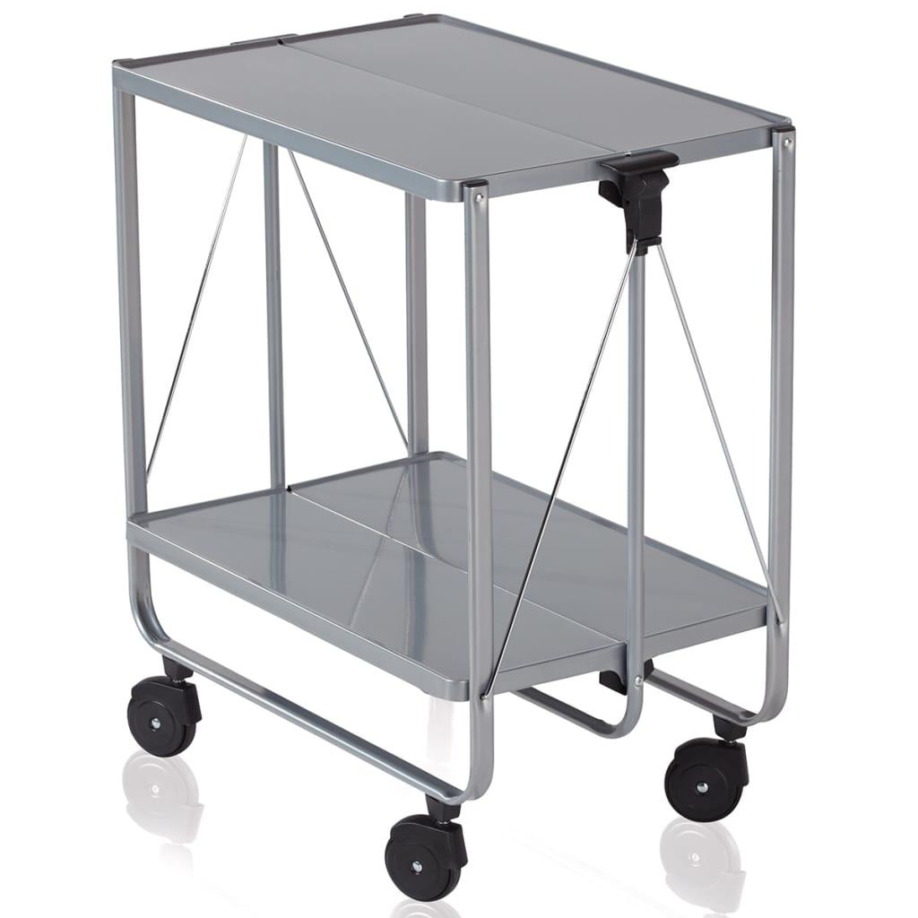 leifheit carrito plegable de cocina plateado 74291
