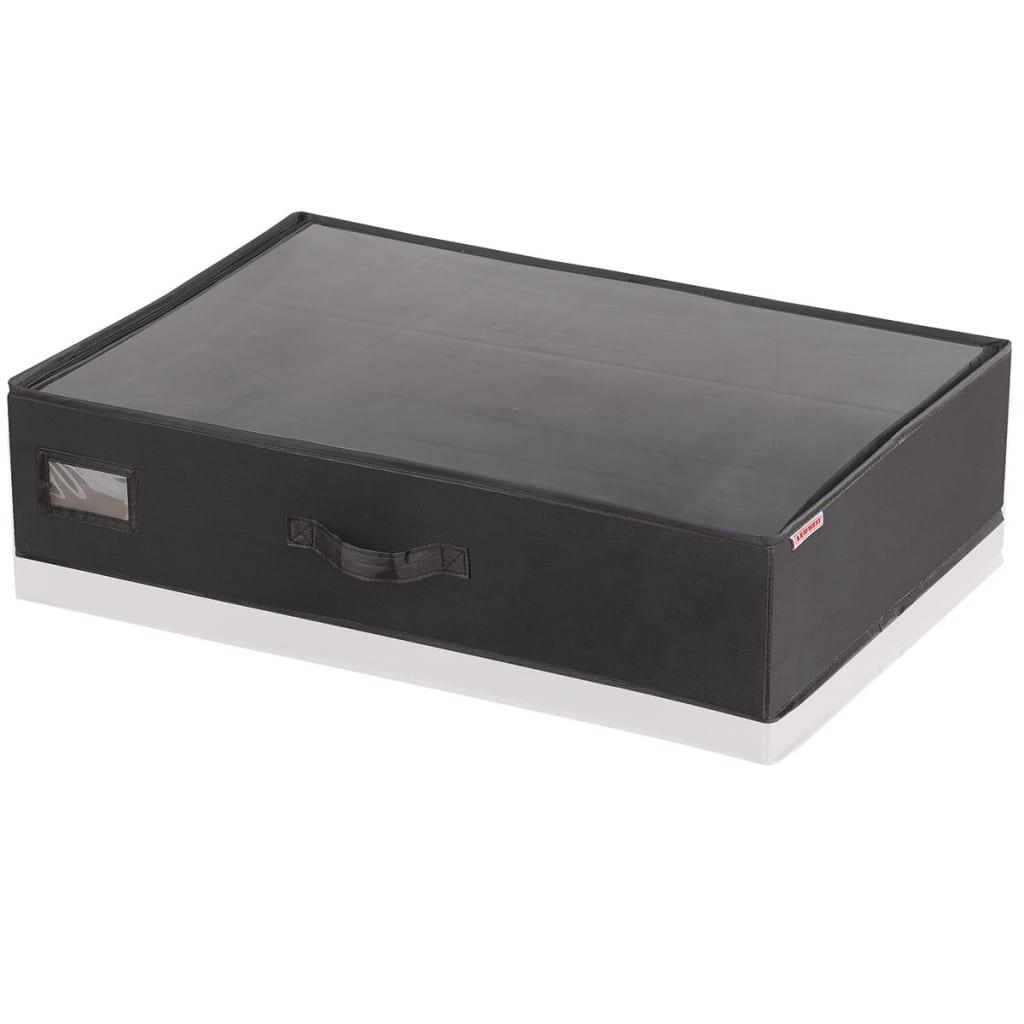 Leifheit caja de almacenaje bajo cama peque a negra for Cajas bajo cama carrefour
