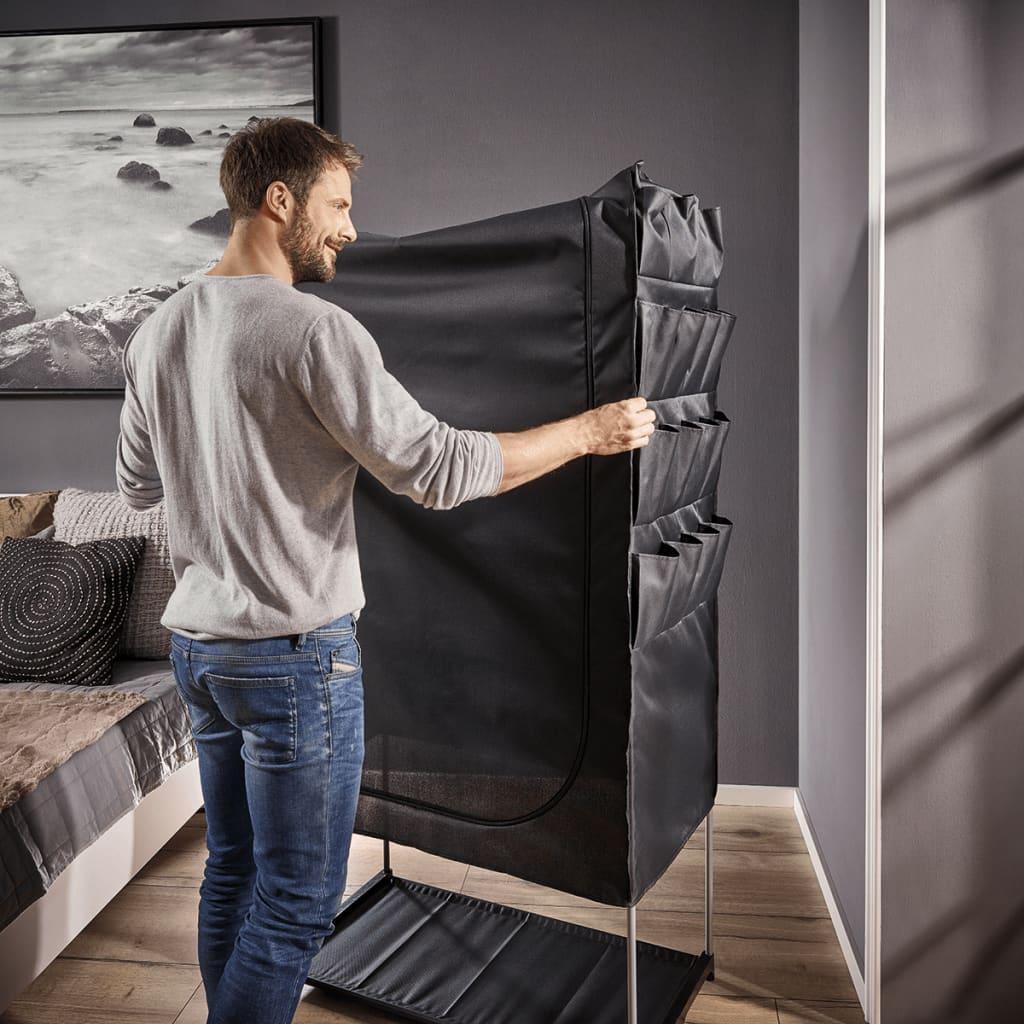 Shop leifheit garderobe flex sort 90 x 50 x 160 cm 80001 for Garderobe 90