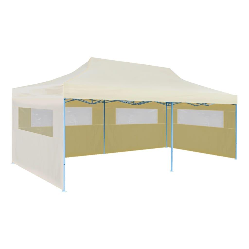 vidaXL-Partytent-Pop-Up-Inklapbaar-3x6-m-Creme-Party-Feest-Tent-Buiten-Tuin