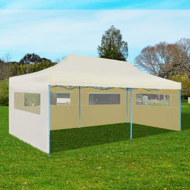 Cream Foldable Pop-up Party Tent 10