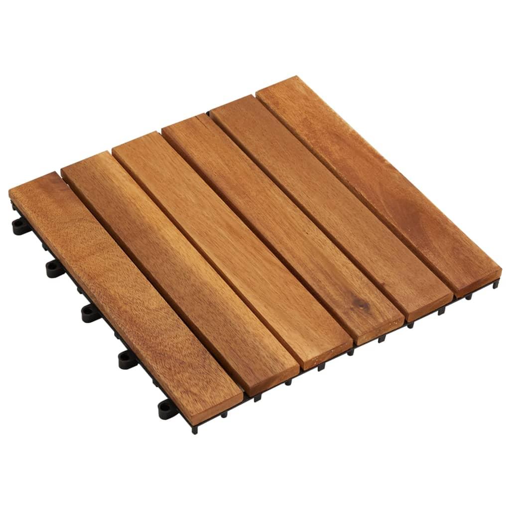 Balkongplattor av Akaciaträ (Vertikalt mönster) 30 x cm 10 st