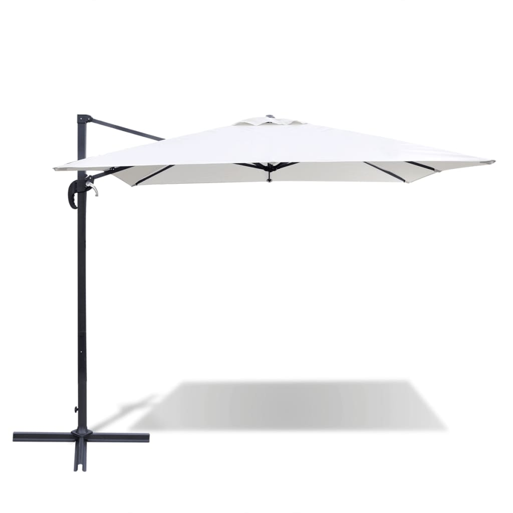 la boutique en ligne parasol d port carr roma blanc sable en aluminium 2 5 x 2 5 m. Black Bedroom Furniture Sets. Home Design Ideas