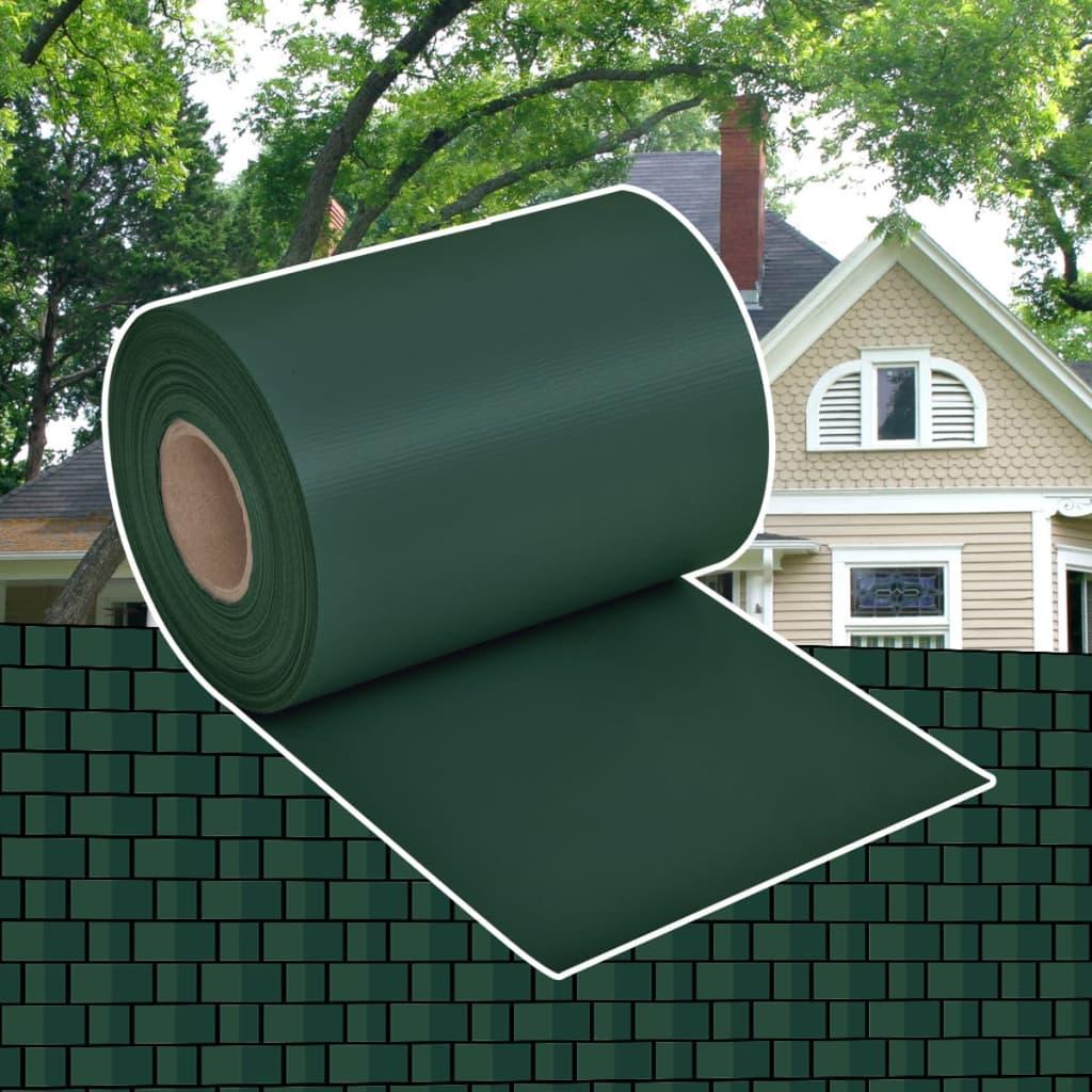 Rollo aislamiento verde de pvc para vallas 70 x 0 19 m for Vallas de pvc para jardin