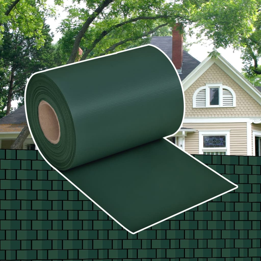 vidaXL Rollo aislamiento aislante verde de PVC jardín para vallas ...