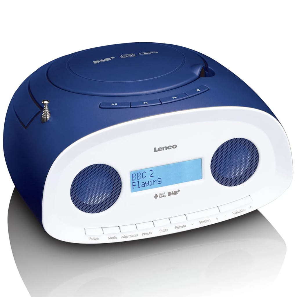lenco portables dab radio mit cd mp3 player scd 69 blau g nstig kaufen. Black Bedroom Furniture Sets. Home Design Ideas