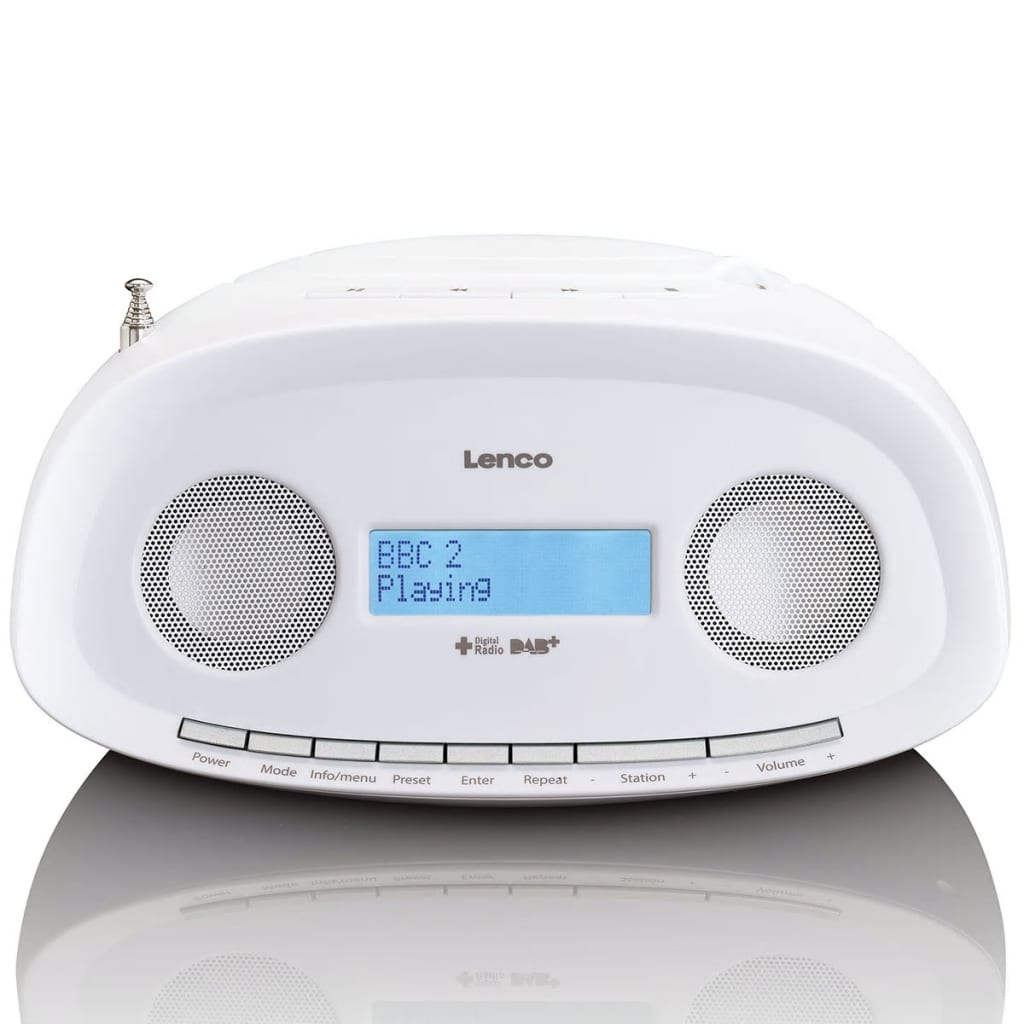 acheter lenco radio dab portative avec lecteur cd mp3 scd 69 blanc pas cher. Black Bedroom Furniture Sets. Home Design Ideas