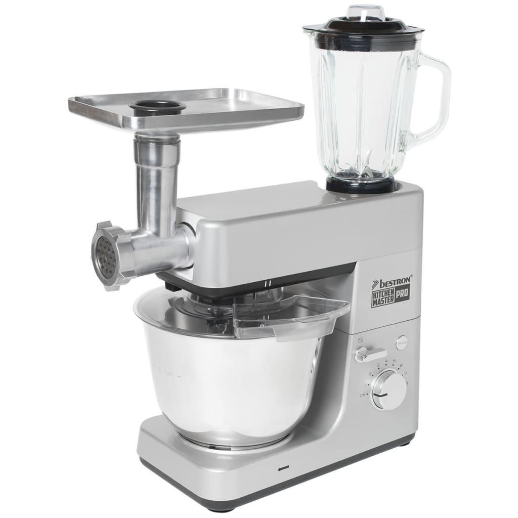 acheter bestron robot de cuisine 4 en 1 1 600 w 5 l gris akm1600s pas cher. Black Bedroom Furniture Sets. Home Design Ideas