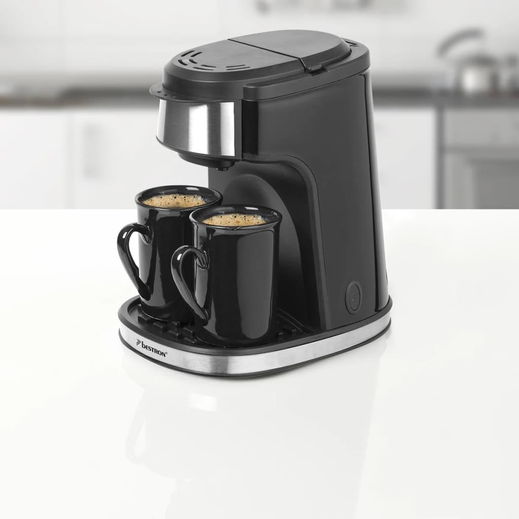 bestron kaffeemaschine mit 2 tassen 450 w schwarz acm7003. Black Bedroom Furniture Sets. Home Design Ideas