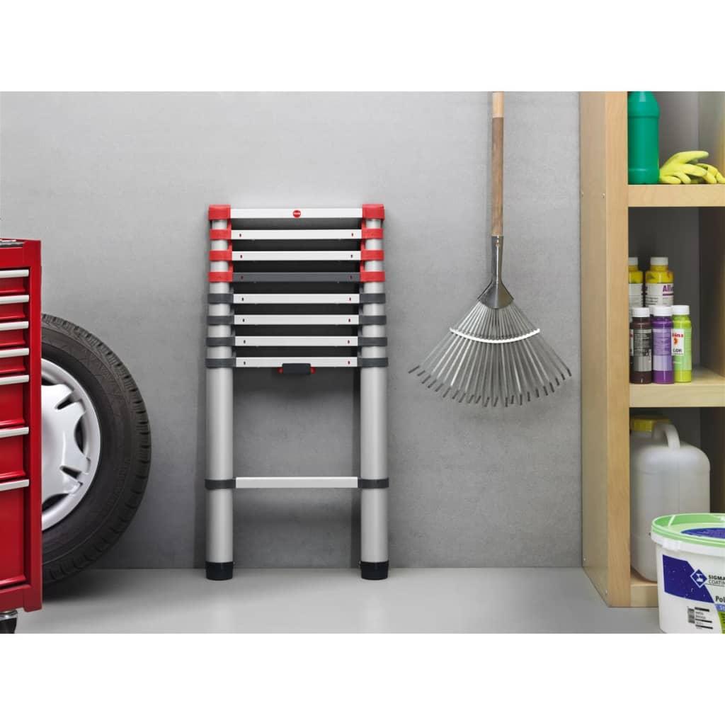 Hailo escalera telesc pica flexline 260 264 cm aluminio for Escalera telescopica aluminio