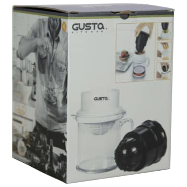 gusta centrifugeuse 2 en 1 noir et blanc 01152480. Black Bedroom Furniture Sets. Home Design Ideas