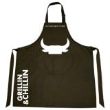 Gusta Apron Grillin & Chillin Textile 85x70 cm Black 01250020