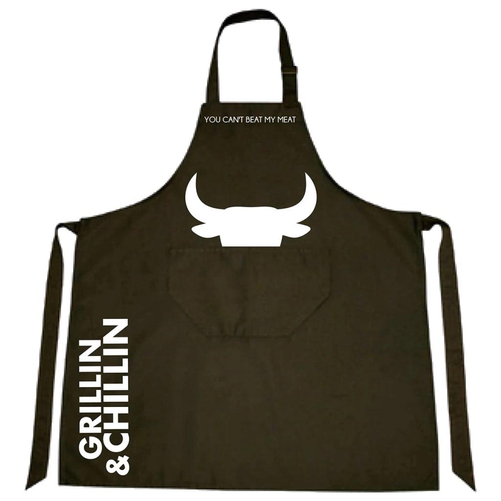Afbeelding van Gusta Schort Grillin & Chillin 85x70 cm textiel zwart 01250020