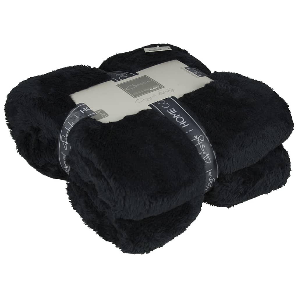 Afbeelding van Gusta Fleece deken pluizig zwart 152x127 cm 04125050